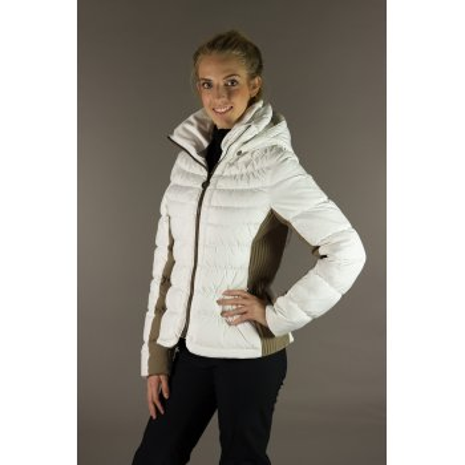 d5f74987be Poivre Blanc 1201 Womens Short Down Ski Jacket In White