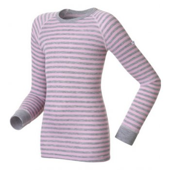 Odlo Oldo Warm Kid Longsleeve Ski Thermals Top in Winterrose