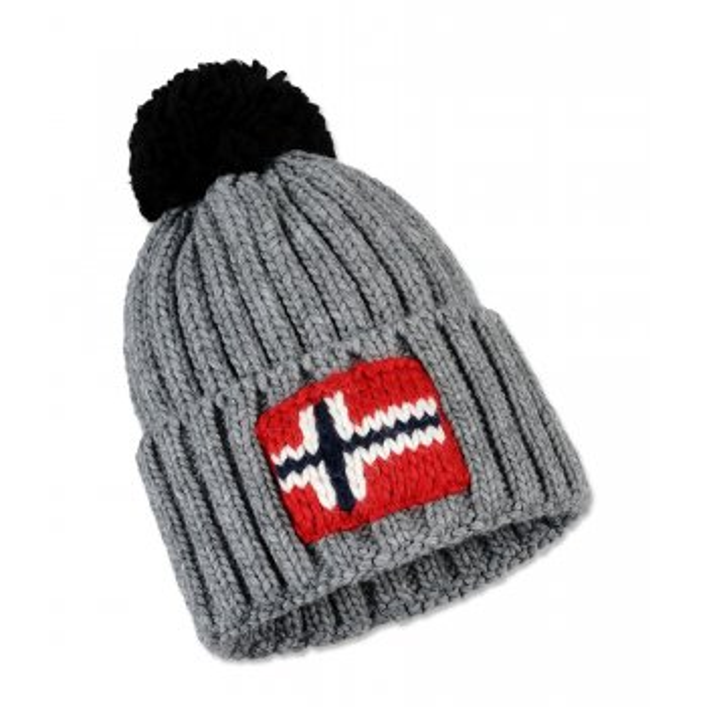 40de995aa Napapijri Semiury Mens Ski Hat in Medium Grey Mel
