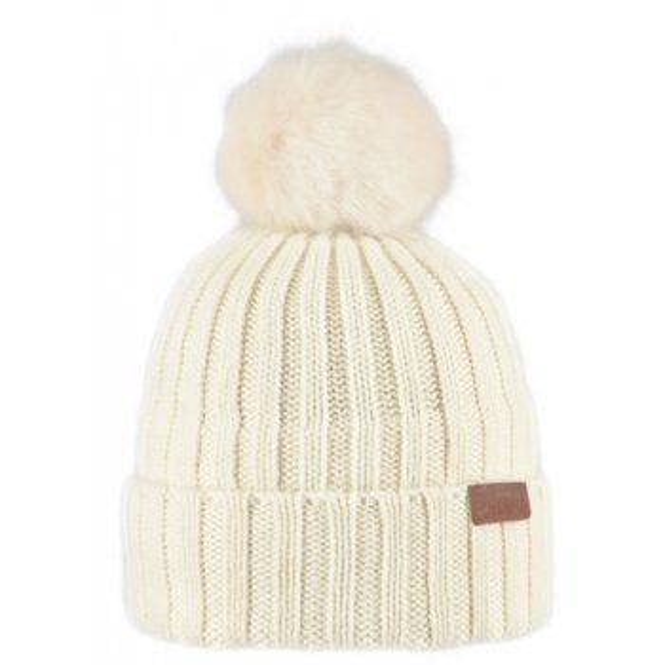 BARTS Linda Beanie Ski Hat in Cream