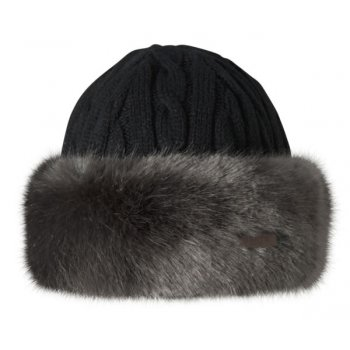 Barts Fur Cable Bandhat Ski Hat in Grey