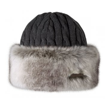 Barts Fur Cable Bandhat Ski Hat in Rabbit