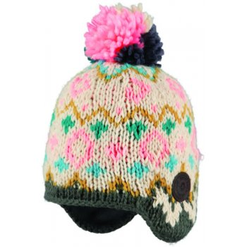 Barts Alpine Earflap Kids Ski Hat in Dark Heather