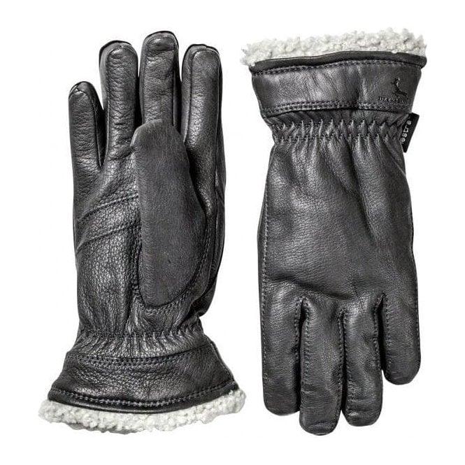 HESTRA SKI GLOVES Hestra Deerskin Primaloft Womens Ski Gloves in Black