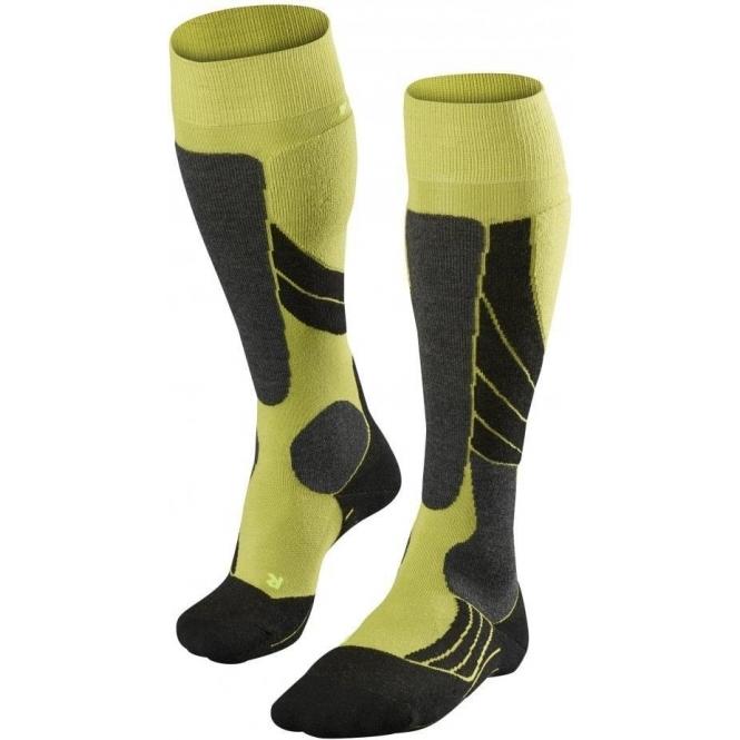 FALKE SK2 Mens Ski Socks in Lime