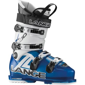 Lange RX100 Mens Ski Boot in White/Blue
