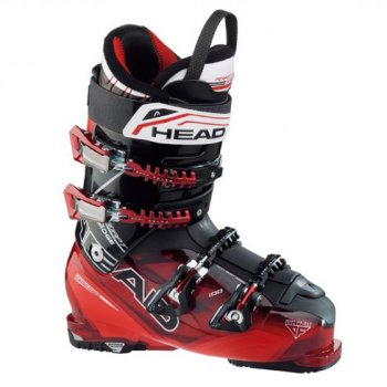 Head Ski Head Adapt Edge 100 Mens Ski Boot in Black/Red