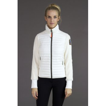Parajumpers Bee Womens Fleece Mid Layer Top in White Cream