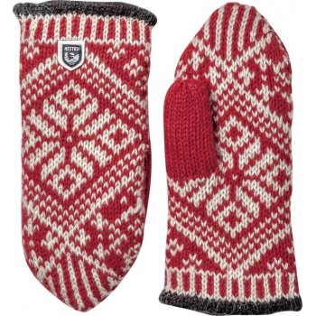Hestra Ski Gloves Hestra Nordic Wool Mitt in Red