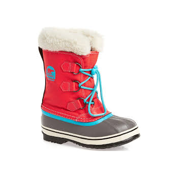 Sorel Yoot Pac Nylon Kids Snow Boot In Juicy and Opal Blue