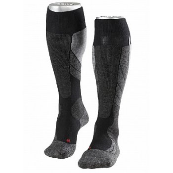 Falke SK2 Cashmere Mens Ski Socks in Black