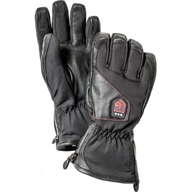 HESTRA SKI GLOVES Hestra Rechargeable Heated Ski Gloves in Black