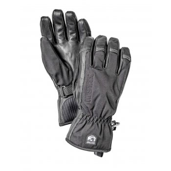 Hestra Ski Gloves Hestra Army Leather Softshell Mens Ski Glove in Black