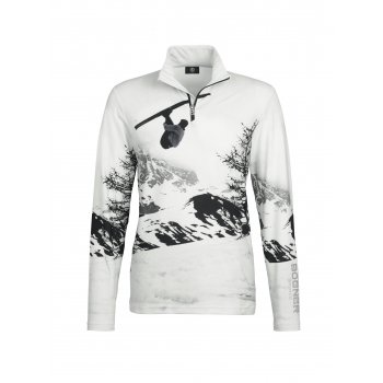 Bogner Verti Mens Baselayer in White with Silver