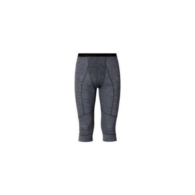 ODLO Revolution Mens 3/4 Wool Baselayer Pants in Grey Melange