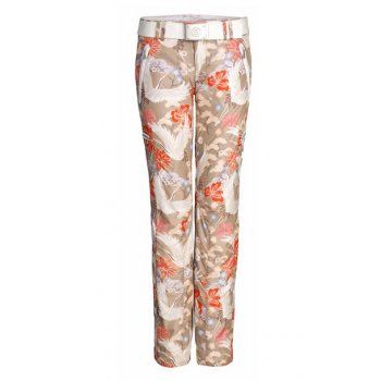 Bogner Terri Ski Pant in Champagne & Orange Print