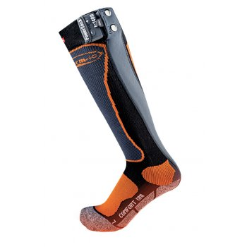 Thermic Therm-ic PowerSock Set ic 1200 Heated Sock In Black and Orange