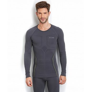 Falke Athletic Longsleeved Thermal Ski Shirt Mens Ski in Carbon