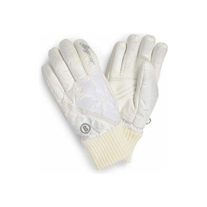 BOGNER Cara Womens Ski Glove in Off White
