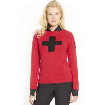 M. Miller M Miller Suisse Womens Cashmere Sweater in Red