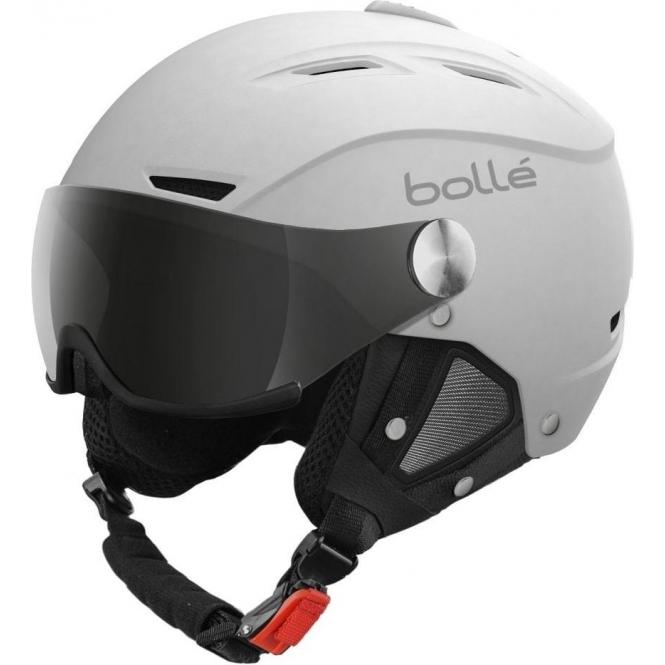 BOLLE Backline Visor Ski Helmet in Soft White