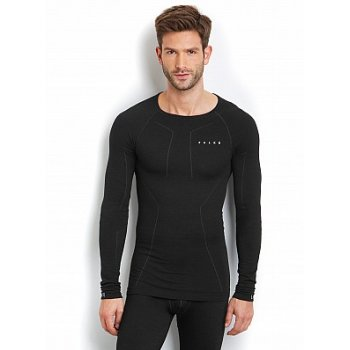 Falke Wool Mix Longsleeved Shirt Mens Ski Thermal in Black