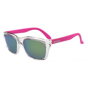 Bolle 527 Shiny Crystal Pink Temples with Brown Emerald Lens