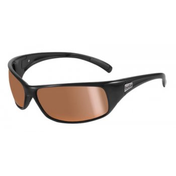 Bolle Recoil Sunglasses - Shiny Black / Polarized Inland Gold Lens