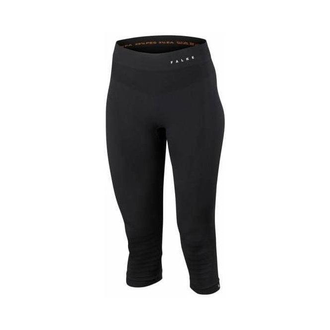 FALKE Athletic 3/4 Tights Womens Ski Thermal in Black
