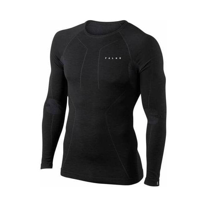 FALKE Wool Tec Longsleeved Shirt Black Mens Baselayer