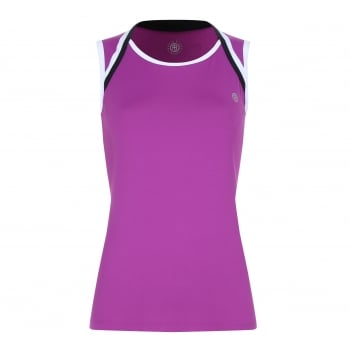 Poivre Blanc Womens Tennis Tank Top In Orchid Violet