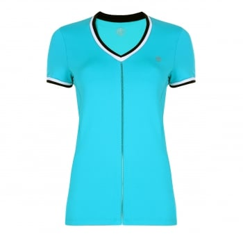 Poivre Blanc Womens Tennis T Shirt In Lake Blue