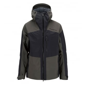 Peak Performance Heli Gravity Mens Ski Jacket in Black Olive