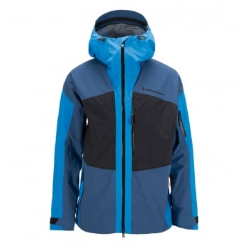 Peak Performance Heli Gravity Mens Ski Jacket in Multi Blue