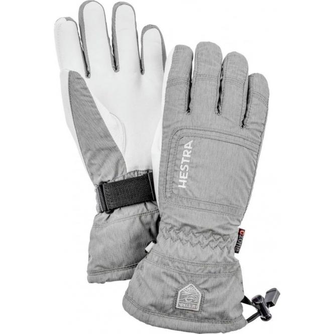 HESTRA SKI GLOVES Hestra Czone Powder Female Ski Glove in Light Grey