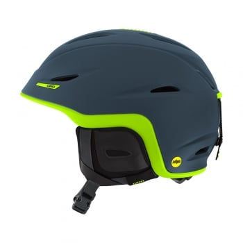 Giro Union MIPS Mens Ski Helmet in Matte Turbulence and Lime