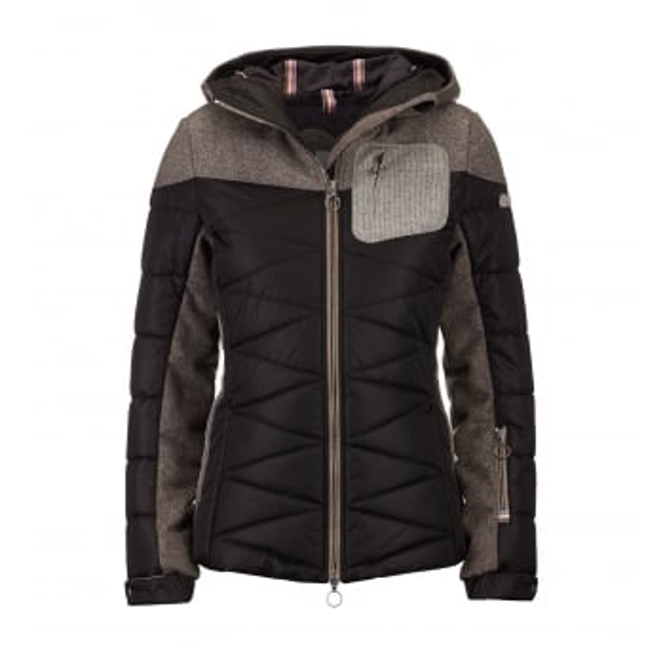 LUIS TRENKER Jana Womens Ski Jacket in Black