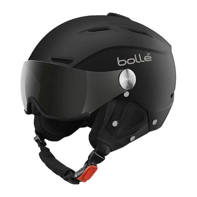 BOLLE Backline Visor Ski Helmet in Soft Black and Silver