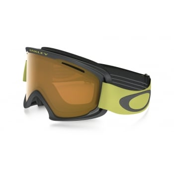 Oakley O2 XM Iron Citrus Frame Ski Goggle with Persimmon Lens