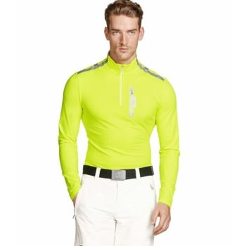 Bogner Timmy Mens Baselayer Top in Fluro Yellow