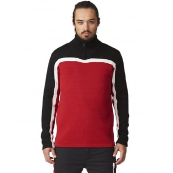 SOS Drift Knit Mens Midlayer in Racing Red