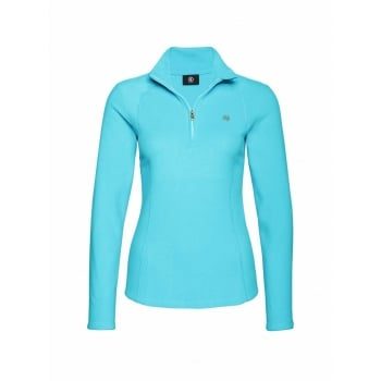 Bogner Madita Womens Fleece Midlayer in Turquoise