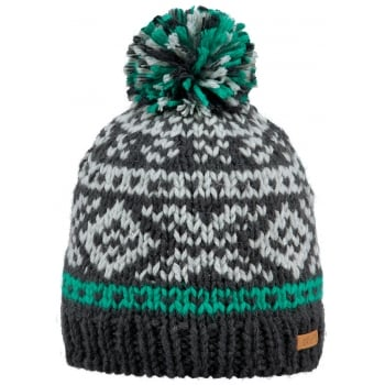Barts Log Cabin Beanie Kids Ski Hat in Green