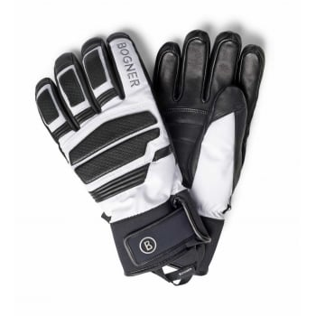 Bogner Agon Mens Ski Glove in Black and White