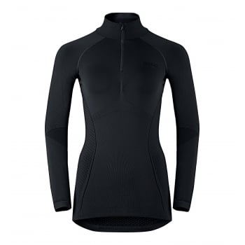 Odlo Evolution Warm 1/2 Zip Shirt Womens Baselayer in Black