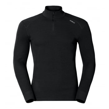Odlo Warm L/S 1/2 Zip Mens Baselayer Top in Black