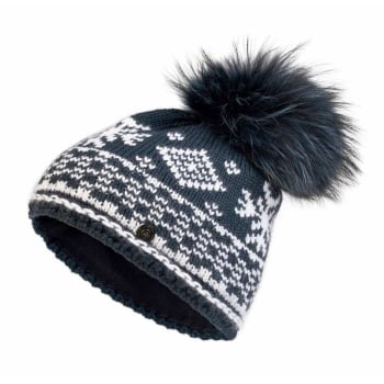 Bogner Carrie Knit Womens Ski Hat in Navy