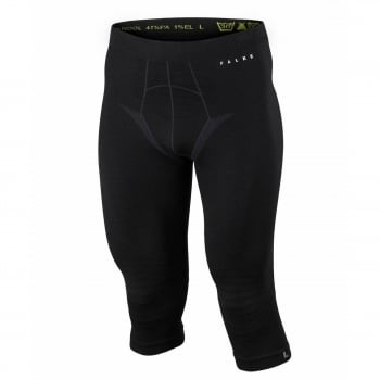 Falke Mens Wool Tech 3/4 Pants Tight Fit in Black