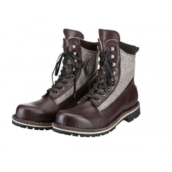 Luis Trenker Luis Trenker Alfred Loden Mens Winter Boot in Bordeaux