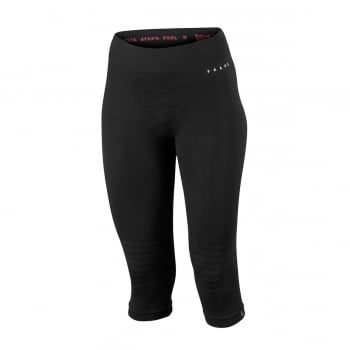 Falke Womens Wool Tech 3/4 Pants Tight Fit in Black